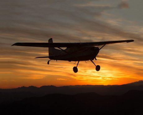 ночной полет на самолете