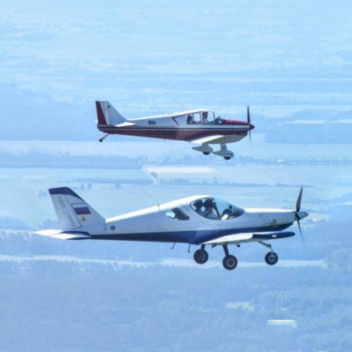 полет на двух самолетах