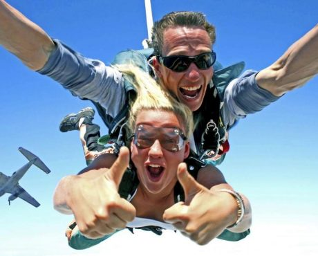 прыжок с парашютом в тандеме с инструктором