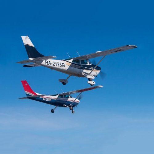 полеты на двух самолетах